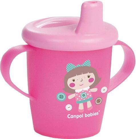 CANPOL BABIES Hrnček nevylievací TOYS 250ml - ružový