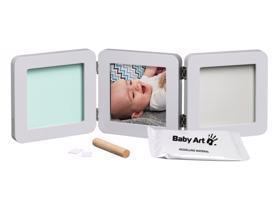 BABY ART Dvojitý rámik na odtlačky a fotografiu - pastel,  V001113