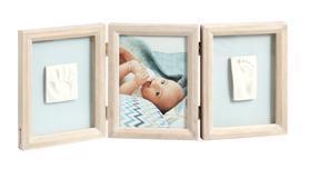BABY ART Dvojitý rámik na odtlačky a fotografiu - Stormy,  V001113