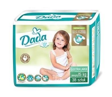 DADA Jednorázové plienky Extra Soft XL veľ. 6 (15+ kg), 38 ks,  V001265