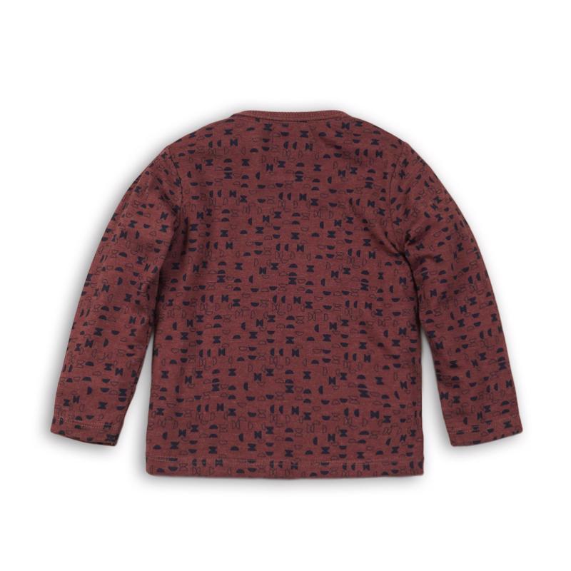 DIRKJE Tričko dlhý rukáv B-AWESOME 68 Burgundy