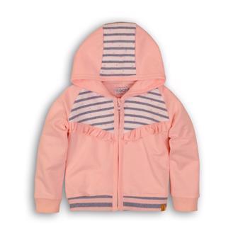 Mikina na zips s kapucňou C-SO SOFT WHO RUN THE WORLD 68 Pink