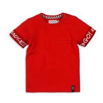 DIRKJE Tričko krátky rukáv C-SO FAST READY SET GO ! 80 Red