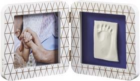 BABY ART Rámček na odtlačky My Baby Touch - Simple Copper Edition White,  V001122