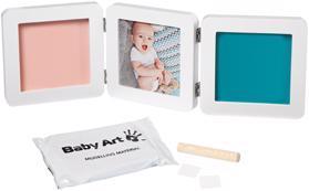 BABY ART Rámček na odtlačky a fotografiu My Baby Touch - Double White,  V001117