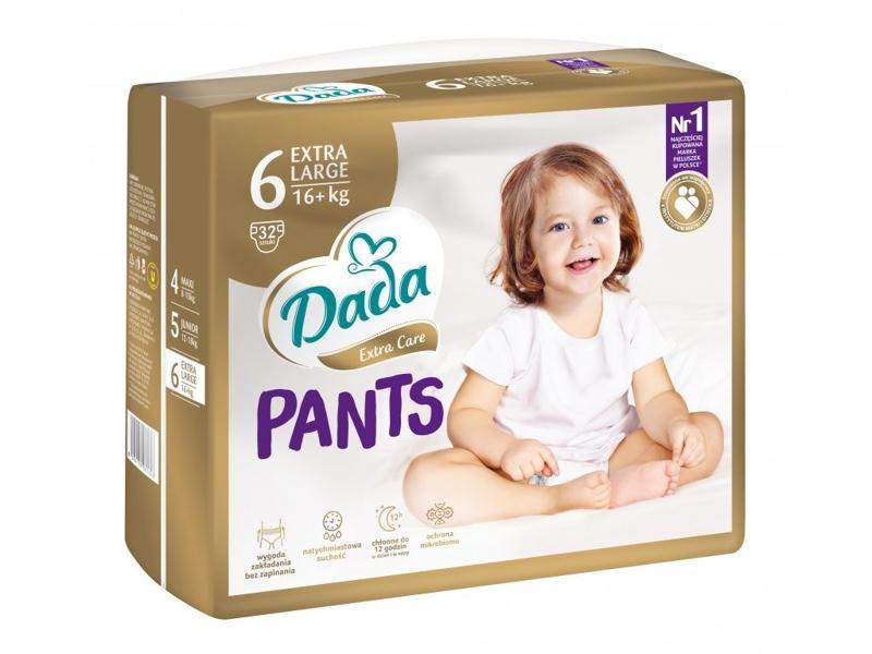 DADA Plienkové nohavičky Extra Care XL veľ. 6 (16+ kg), 32 ks,  V001266