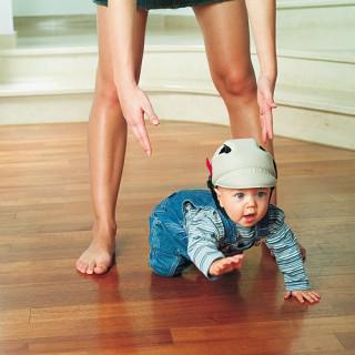 OK BABY Prilba No Shock (8-20 m) - béžová
