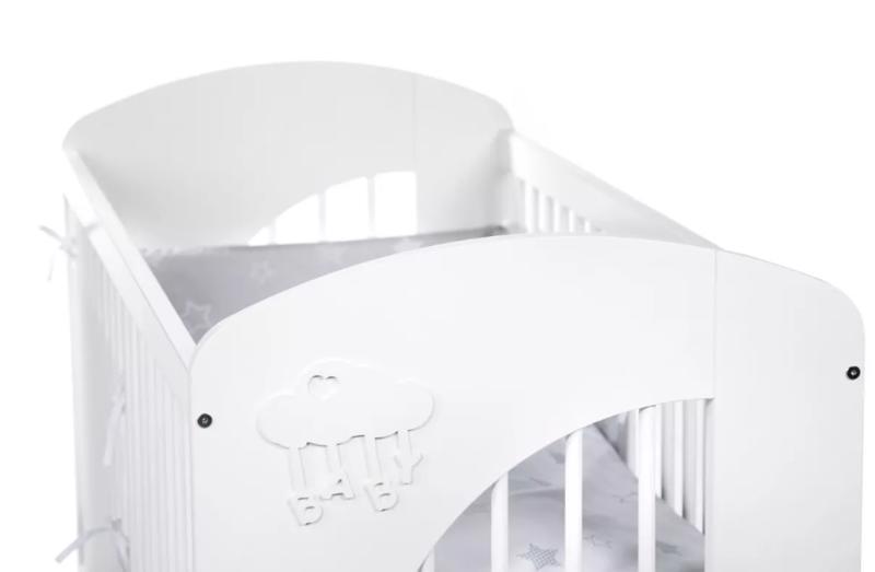 Postieľka detská NEL - Obláčik 120x60 cm biela