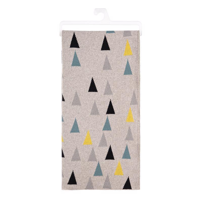 PETITE&MARS Deka pletená bavlnená Harmony Happy Triangles 80 x 100 cm