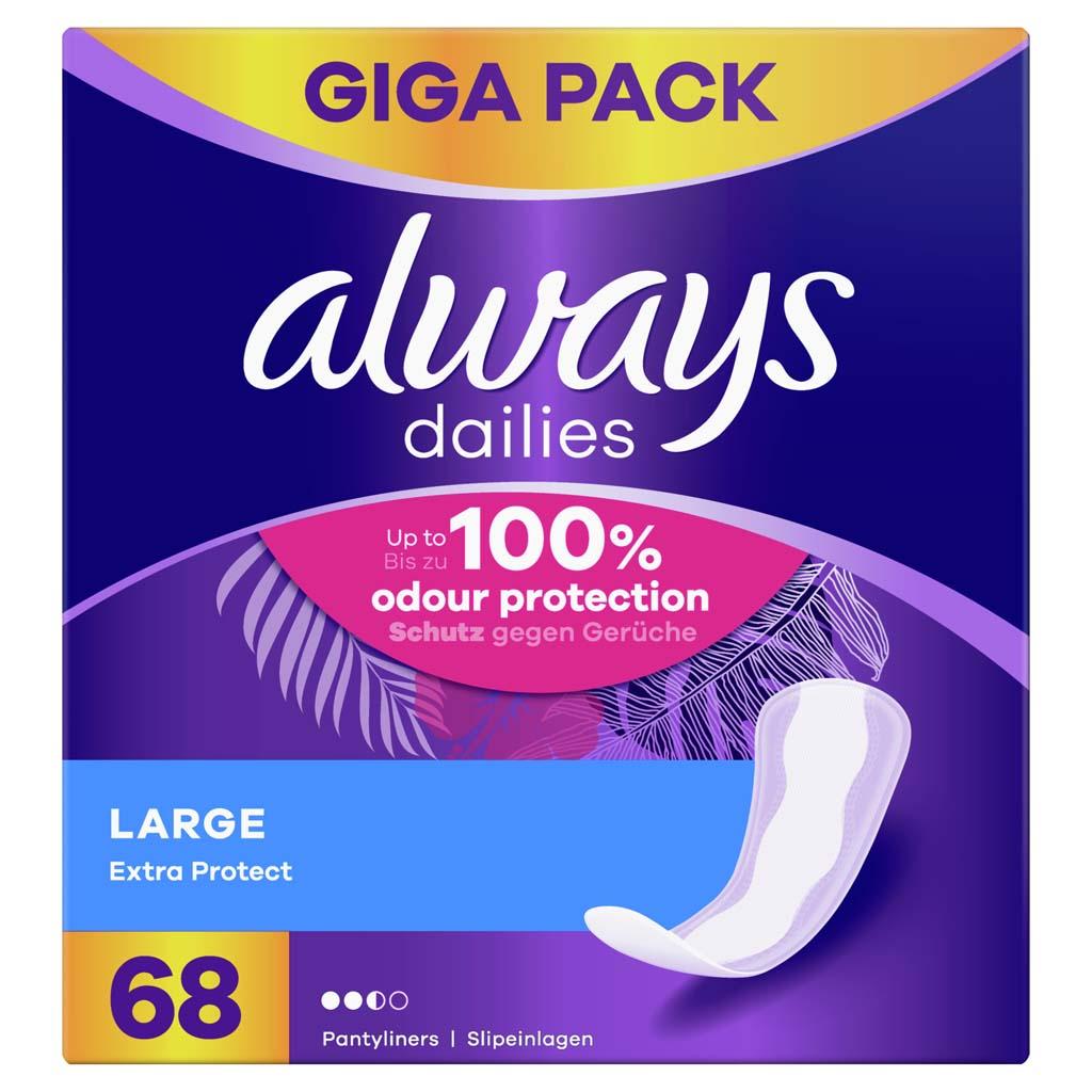 ALWAYS Dailies Large Extra Protect Intímky 68 ks