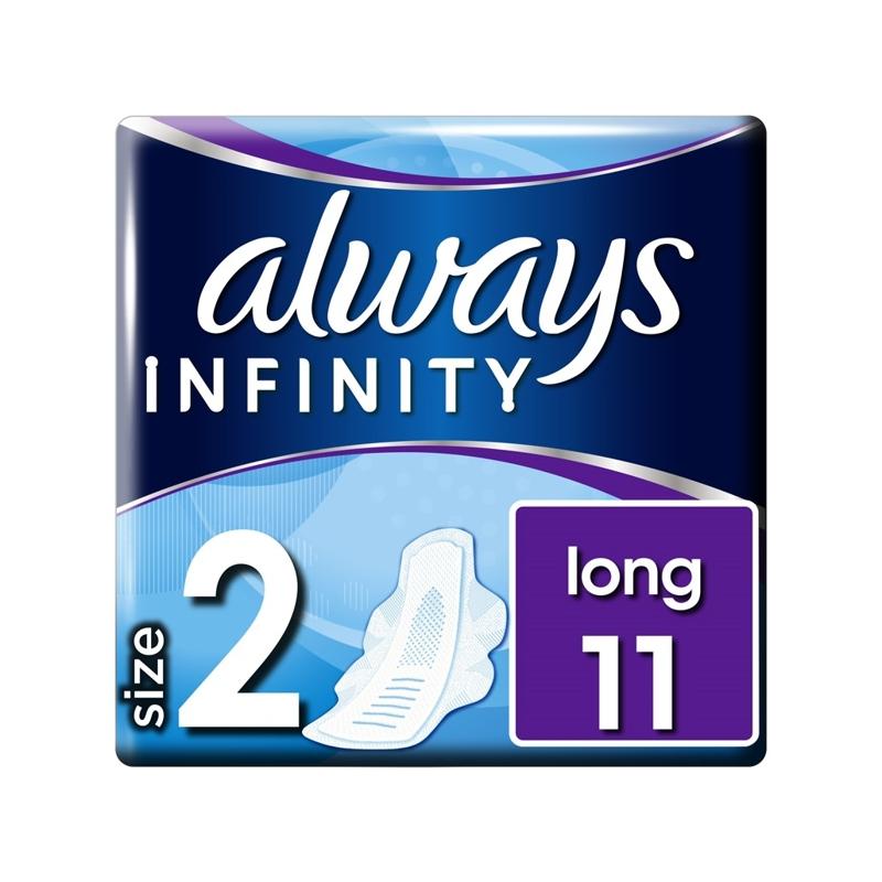 ALWAYS Infinity Long Vložky hygienické 11 ks