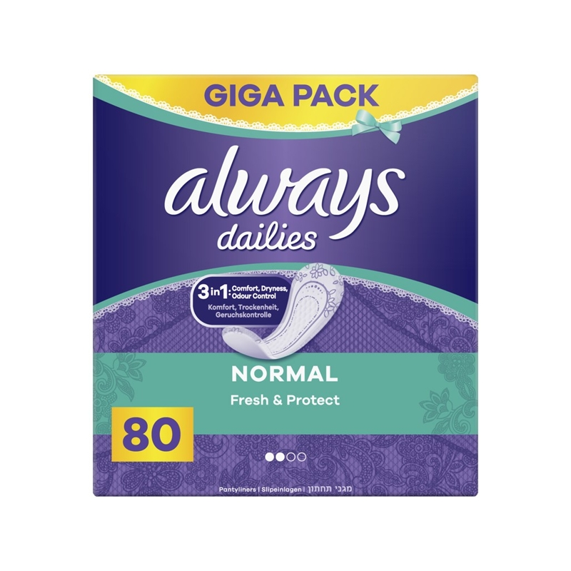 ALWAYS Dailies Normal Fresh&Protect Intímky 80 ks