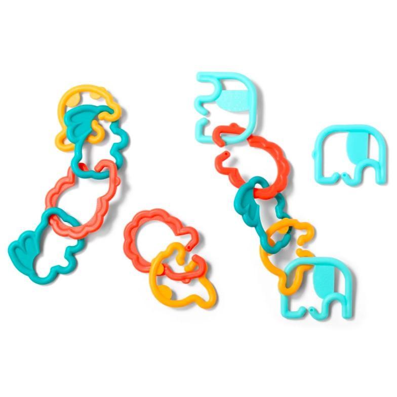 BABYONO Plastové krúžky zvieratká Link´n´play