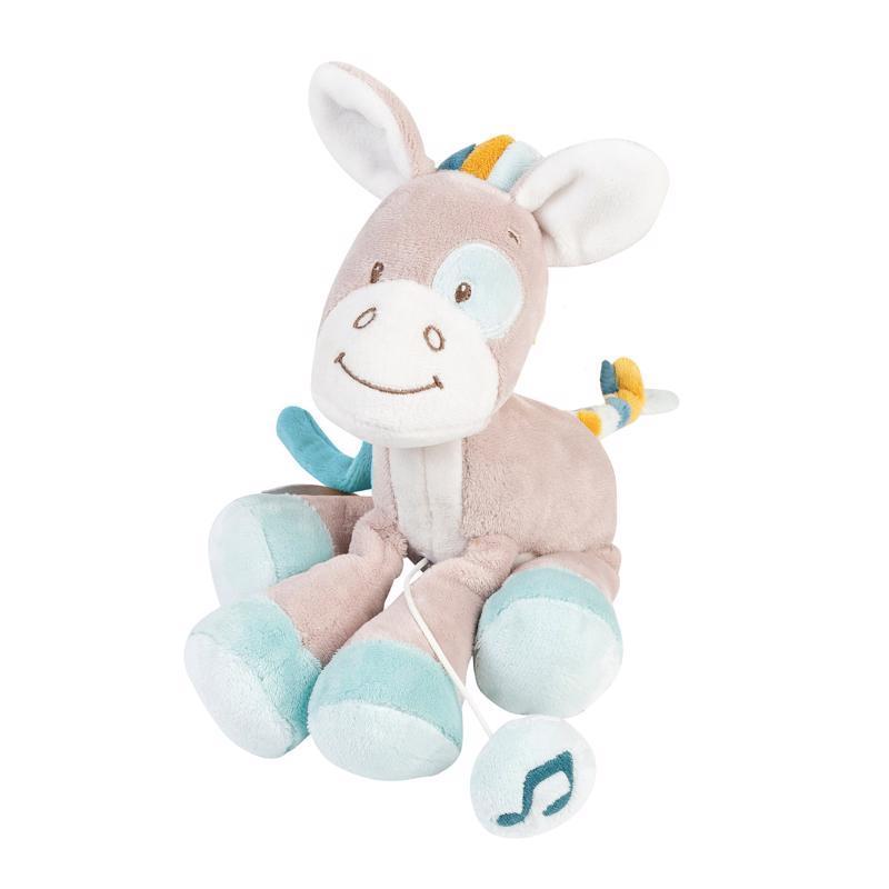 NATTOU Hudobná plyšová hračka, koník Tim (21 cm) Tim&Tiloo