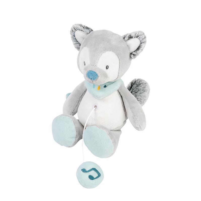 NATTOU Hudobná plyšová hračka, vlk Tiloo (21 cm) Tim&Tiloo