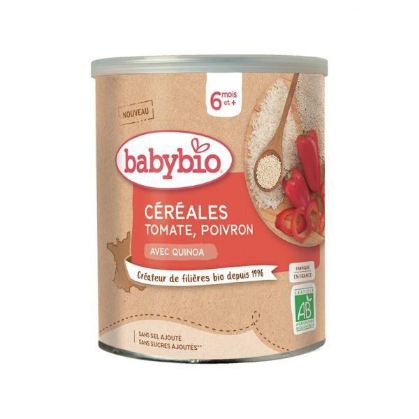 BABYBIO Zeleninová Nemliečna kaša s paradajkami a paprikou (220 g)