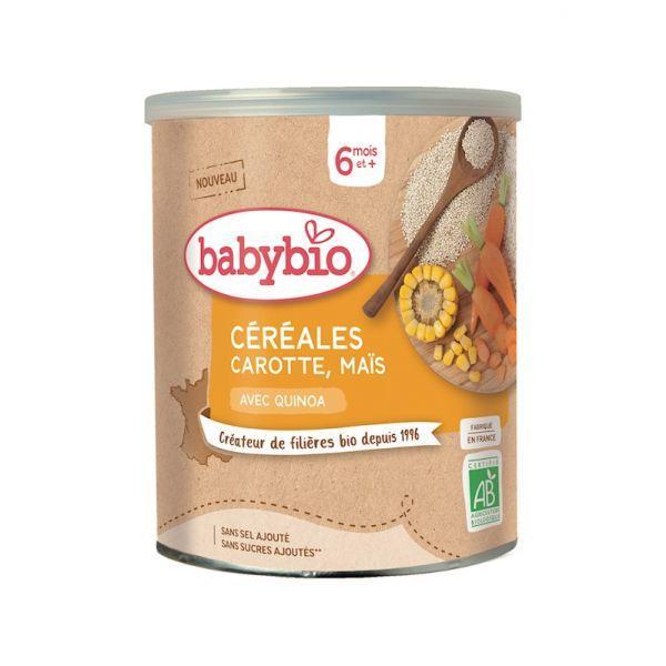 BABYBIO Zeleninová Nemliečna kaša s mrkvou a kukuricou (220 g)