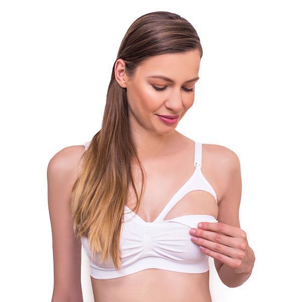 Podprsenka pre tehotné a dojčiace ženy  White veľ. D70-75