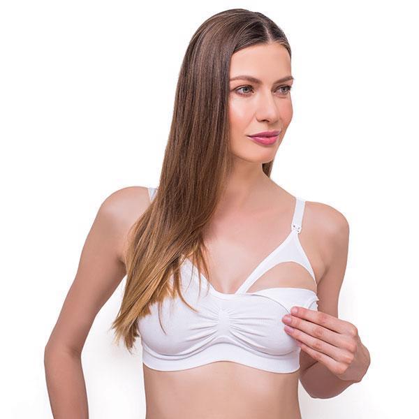 BABYONO Podprsenka pre tehotné a dojčiace ženy veľ. E70-75 - White