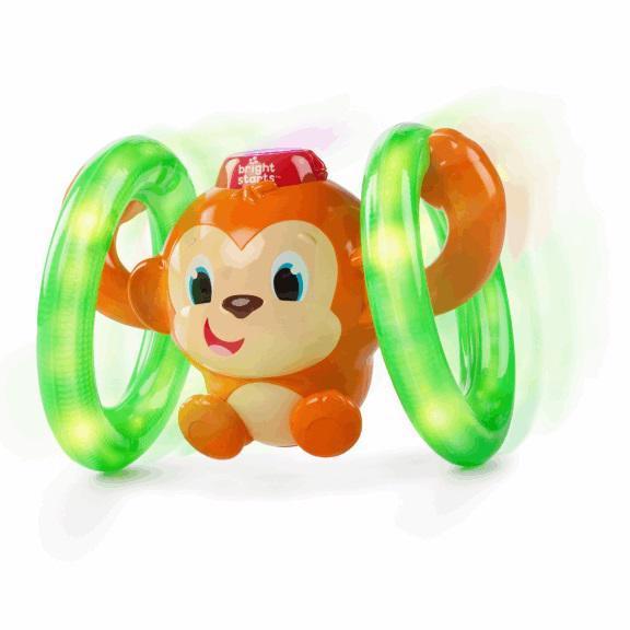 Hračka svietiaca hudobná opička LLB Roll & Glow™ 6-36m