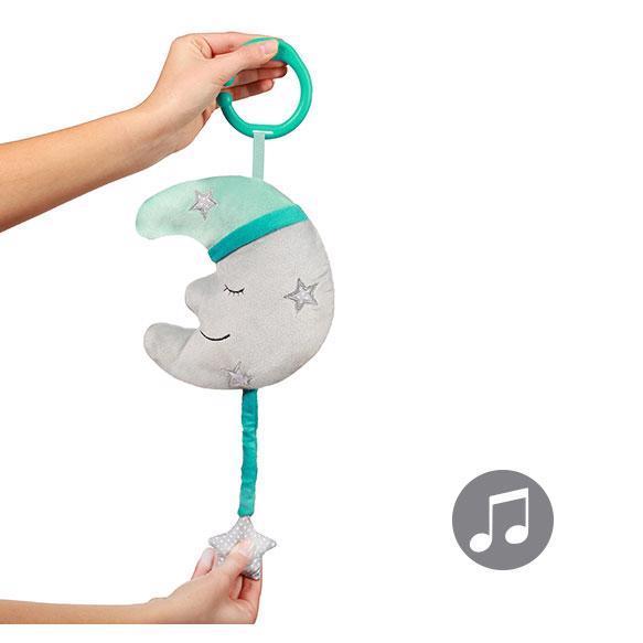 BABYONO Hračka hudobná na C krúžku Happy Moon 0 m+