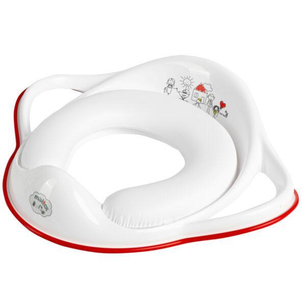 MALTEX Redukcia na WC s úchytmi mäkká Family červená