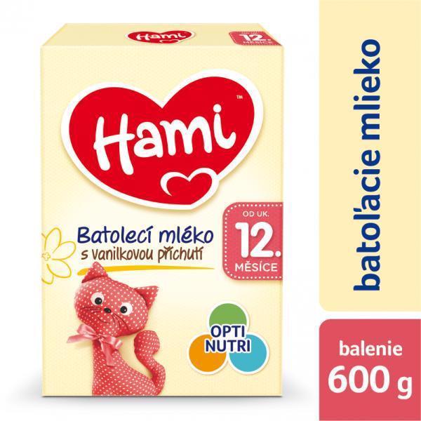 Mlieko dojčenské HAMI 12+ s príchuťou vanilky 600g