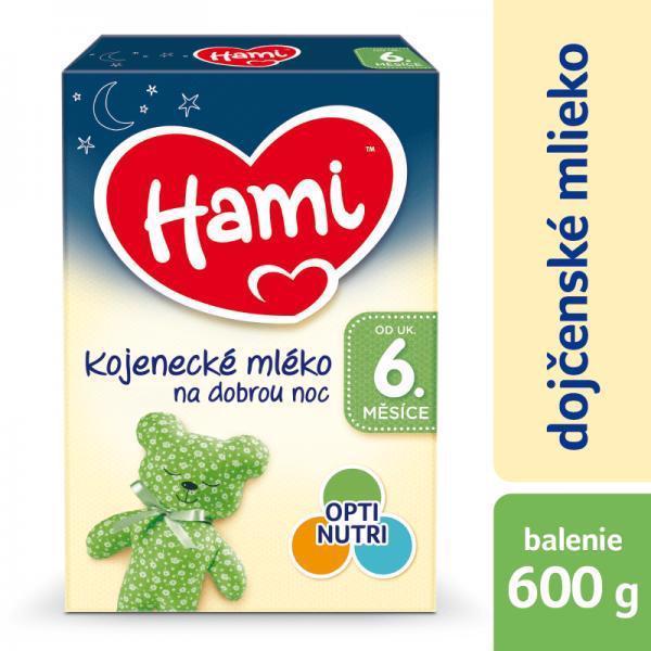 Mlieko dojčenské HAMI 6+ Na dobrú noc 600g