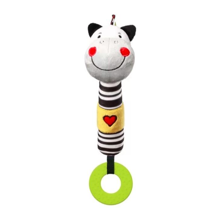 BABYONO Hračka pískací s kousátkem C-MORE zebra Zack