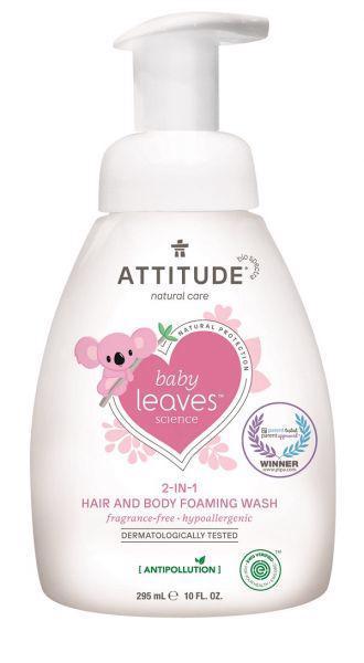 ATTITUDE Detská umývacia pena 2v1 Baby leaves bez vône 295 ml,  V001106