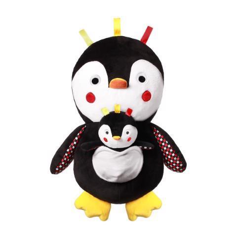 BABYONO Hračka plyšová s hrkálkou C-MORE tučniak Connor 30 x 45 cm