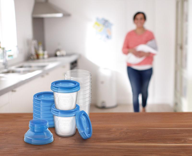 Avent VIA zásobníky na materské mlieko 10 ks