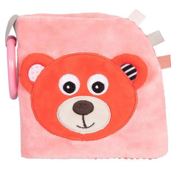 CANPOL BABIES Plyšová knižka Medvedíky červená