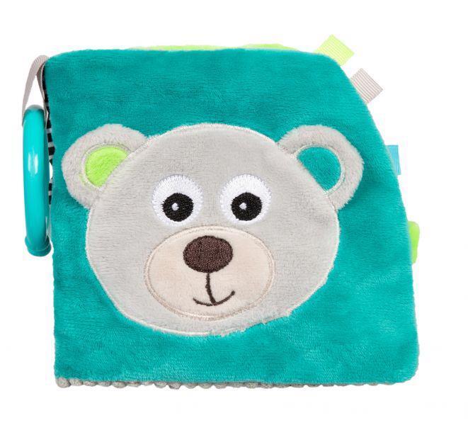 CANPOL BABIES Plyšová knižka Medvedíky sivá