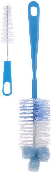 Kefa na čistenie fliaš s hubkou - modrá