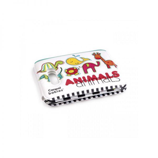 CANPOL BABIES Mäkká knižka pískacia - farebné zvieratká