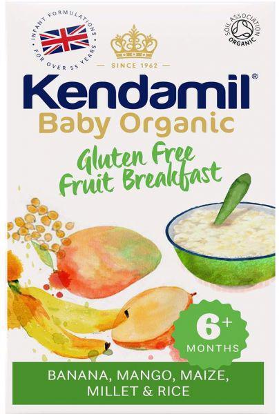 KENDAMIL Bio/organická dětská bezlepková ovocná kaše (150g), Expirace 4.12.2021