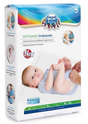 CANPOL BABIES Podložky prebaľovacie jednorázové 10 ks