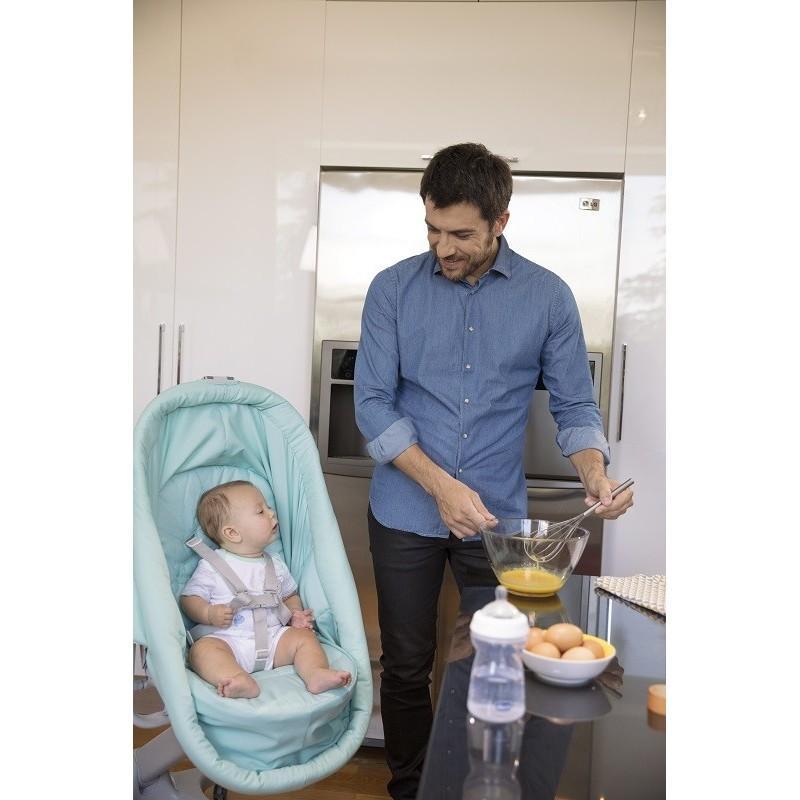 CHICCO Postieľka/lehátko/stolička Chicco Baby Hug 4v1 - Aquarelle