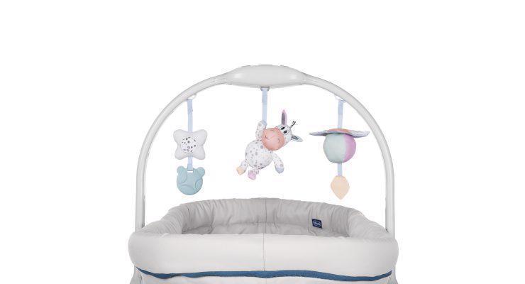 Postielka/lehátko/stolička Chicco Baby Hug 4v1 - Glacial