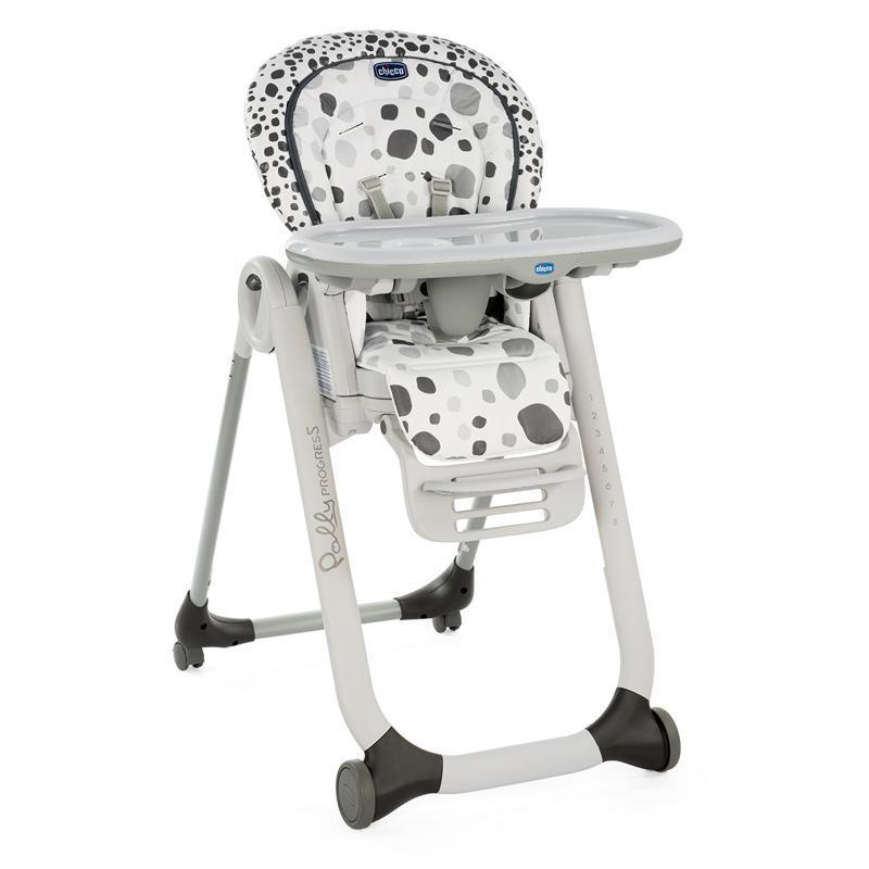 CHICCO Detská jedálenská stolička Polly Progres5 - Anthracite
