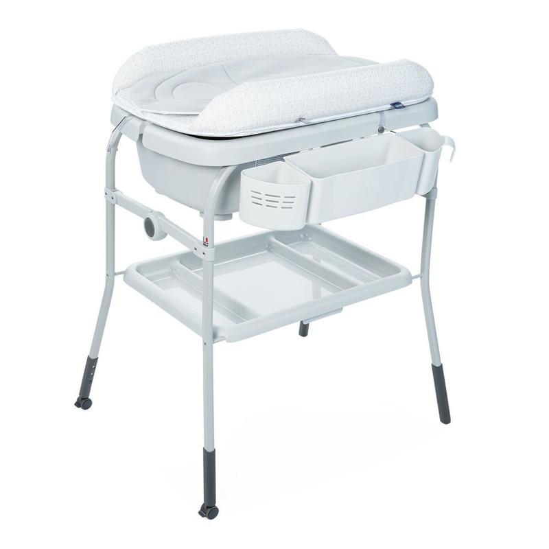 CHICCO Prebaľovací stolík s vaničkou Cuddle & Bubble - Dots,  V001007