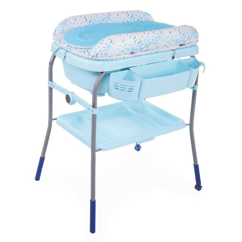 CHICCO Prebaľovací stolík s vaničkou Cuddle & Bubble - Ocean,  V001007