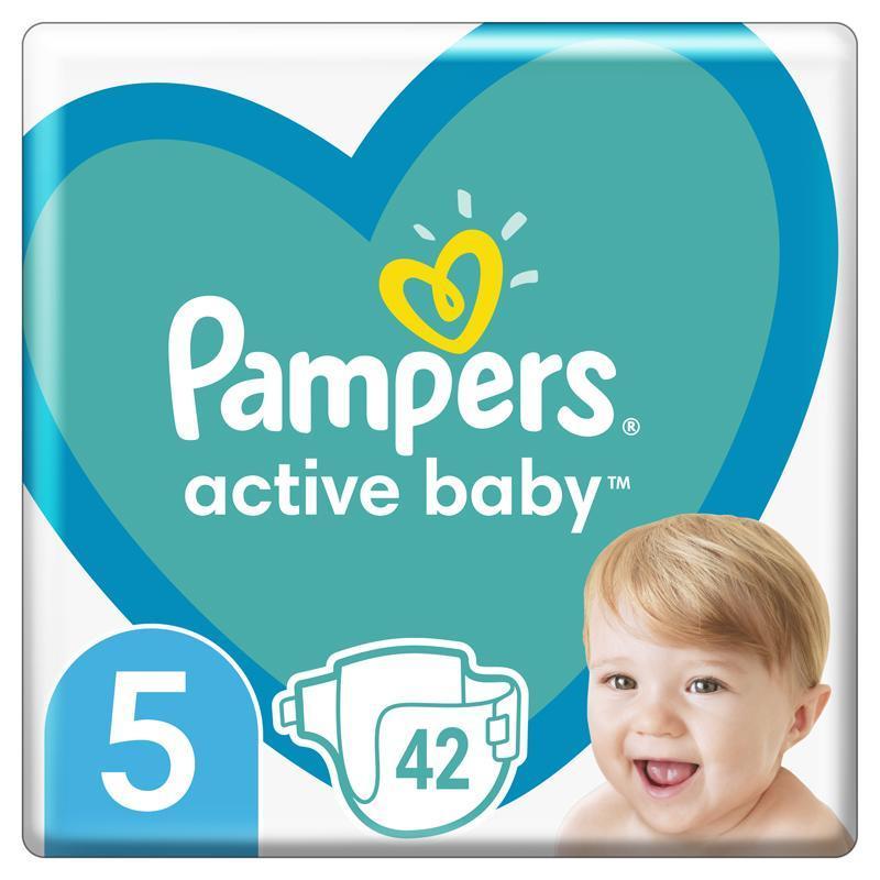 PAMPERS Active Baby jednorazové plienky veľ. 5, 42 ks, 11-16 kg,  V002371