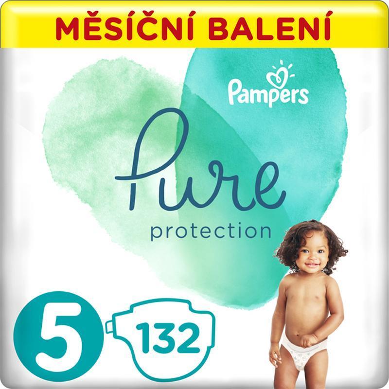 PAMPERS Pure Protection 5 (11-16 kg) 132 ks - jednorázové plienky,  V002193