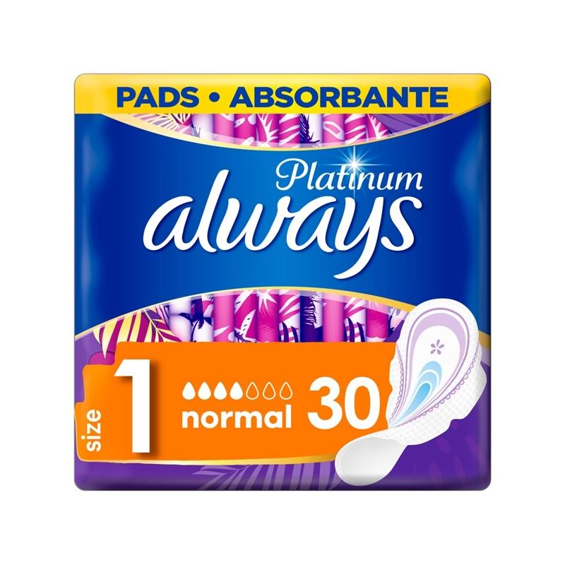 ALWAYS Platinum Normal Vložky hygienické 30 ks