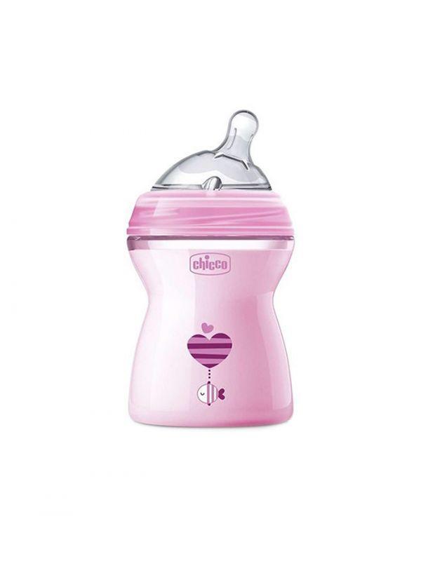 CHICCO Fľaša dojčenská Natural Feeling 250 ml, dievča 2m+,  V000921