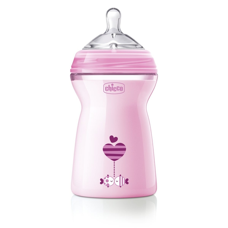 CHICCO Fľaša dojčenská Natural Feeling 330 ml, dievča 6m+,  V000921