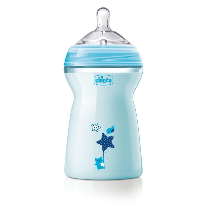CHICCO Fľaša dojčenská Natural Feeling 330 ml, chlapec 6m+,  V000921