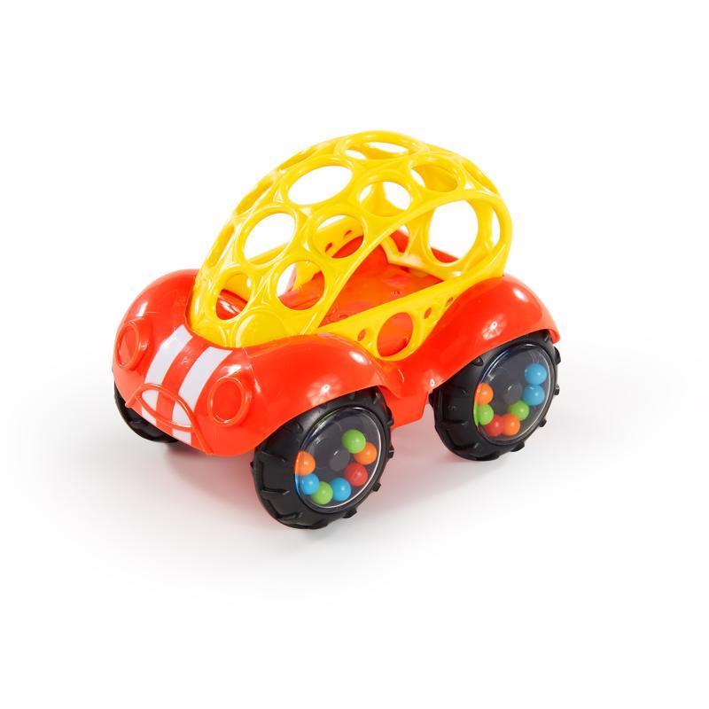 Hračka autíčko Rattle & Roll Oball™ červeno/žluté 3m+